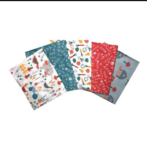 Farm day 5 piece fat quarter set