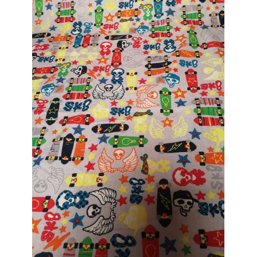 Skateboards cotton fabric