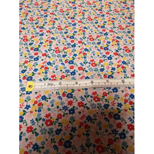 Cute flowers, Floral Polycotton