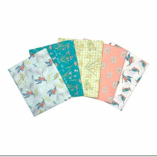 Lily pad 5 piece fat quarter set by Debbie Shore