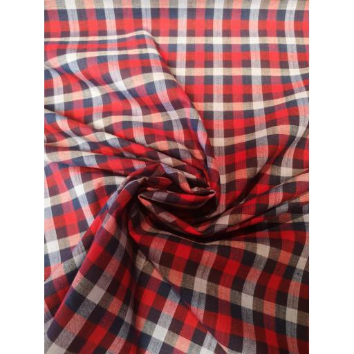 Red white and blue cotton check fabric.jpg