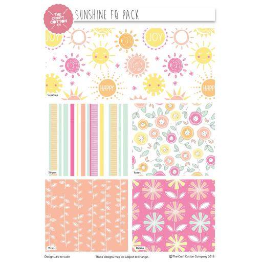 Sunshine 5 piece fat quarter set