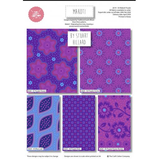 Makoti 5 piece fat quarter set by Stuart Hillard