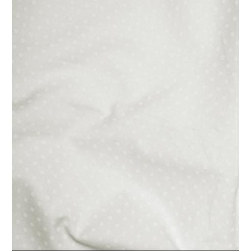 Ivory Spot cotton poplin
