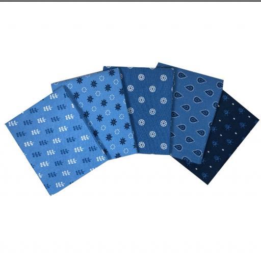 Tonal effects blue craft cotton fat quarter set.jpg