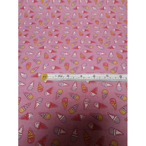 Pink Ice cream Polycotton