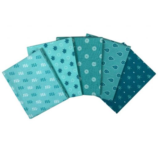 Essential trends 5 piece fat quarter set