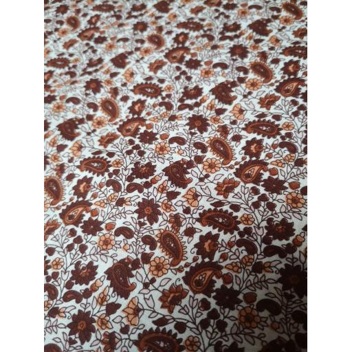 Rust paisley cotton poplin