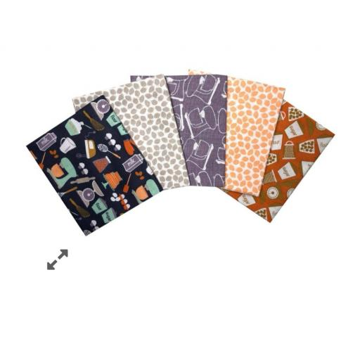 British bake off 5 piece fat quarter set