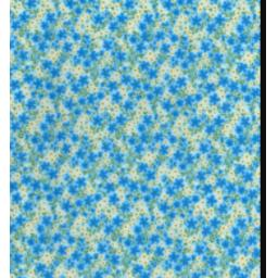 Blue and yellow Ditsy cotton poplin