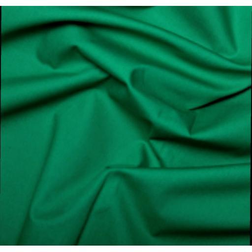 Emerald green cotton poplin