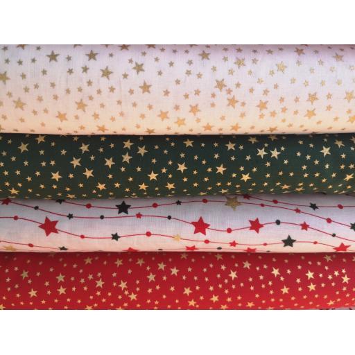 Christmas stars poplin