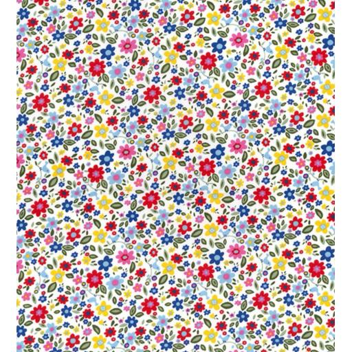 Bright Ditsy cotton poplin fabric by Rose and Hubble