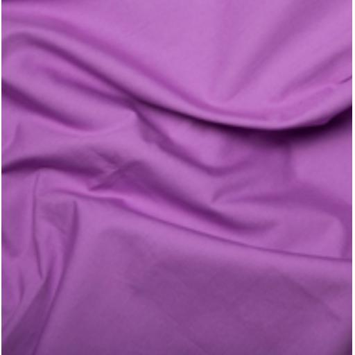 Lotus flower Purple cotton poplin