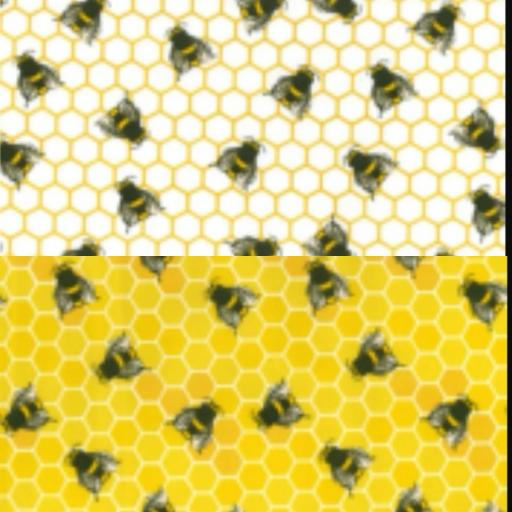 Honey Bees cotton poplin fabric