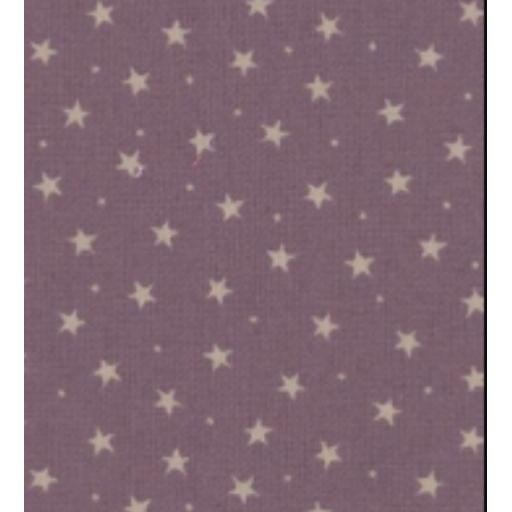 Lavender little star cotton poplin