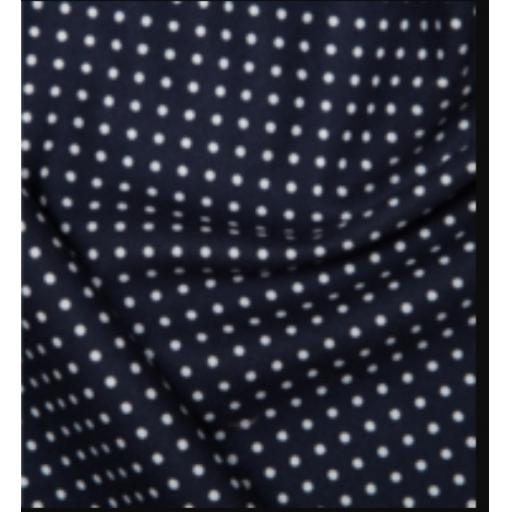 Navy spot cotton poplin fabric by Rose and Hubble