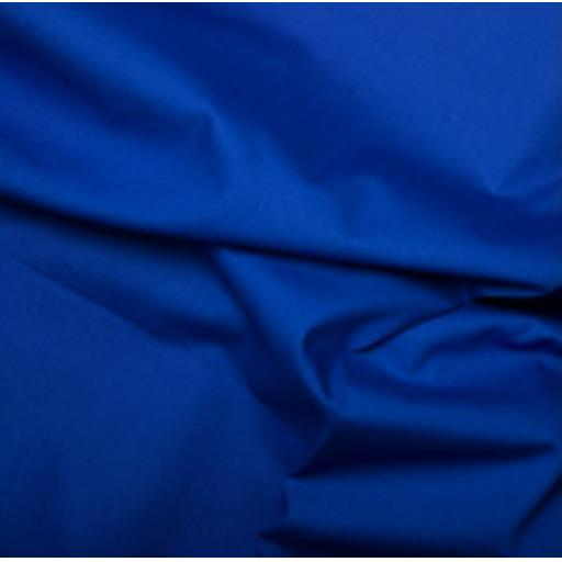 Royal blue cotton poplin
