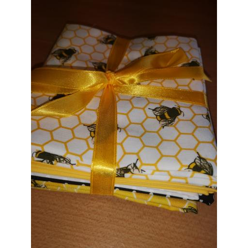 Bees cotton fat quarter set