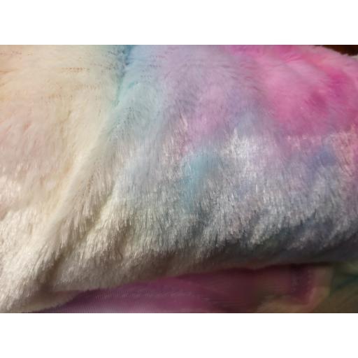 Pastel Rainbow cuddle fleece