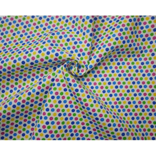 Multispot brushed cotton winceyette fabric