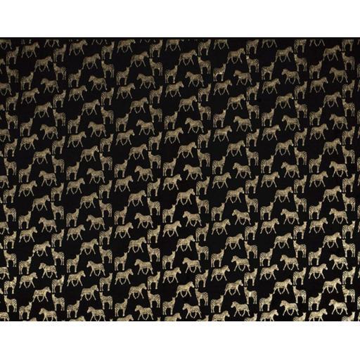 Zebra foil print Jersey