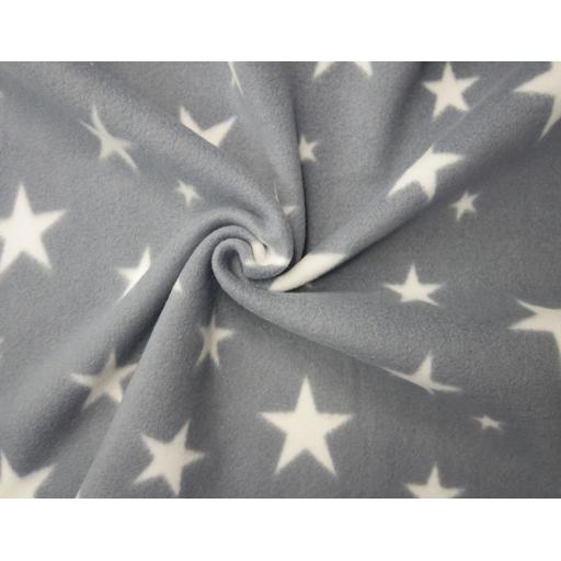 Polar fleece, grey stars
