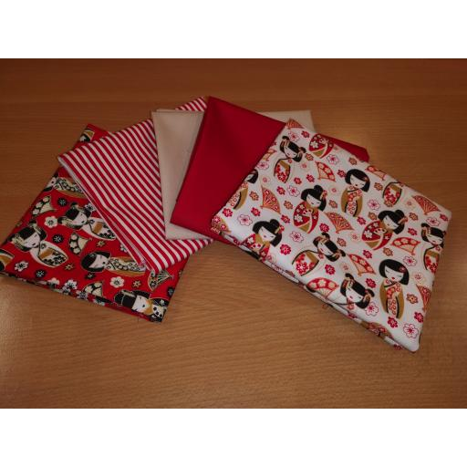 Japanese ladies cotton fat quarter set
