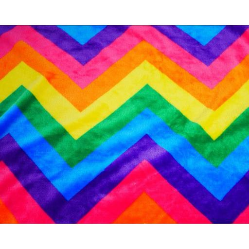 Rainbow zig zag cuddle fleece