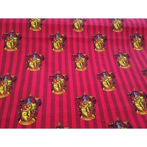 Harry Potter cotton fabric - gryffindor