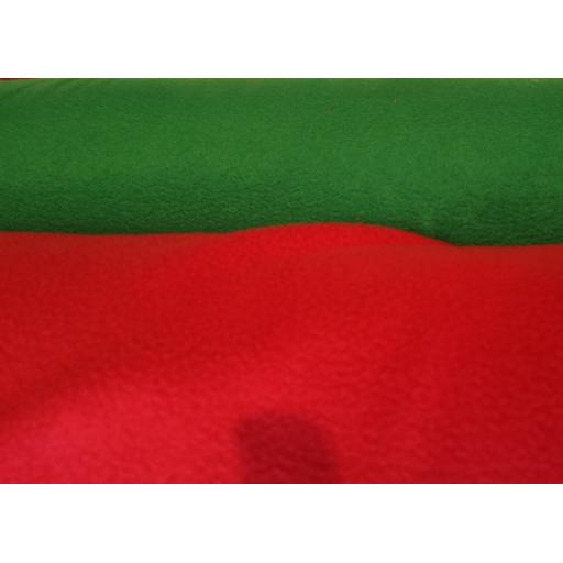 Polar fleece red, green, white