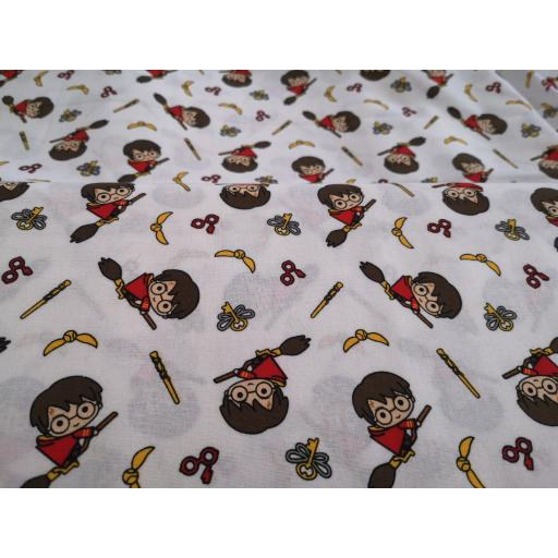 Harry Potter cotton fabric - young Harry, quiditch