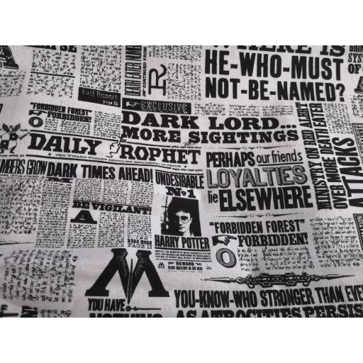 Harry Potter cotton fabric - newspaper
