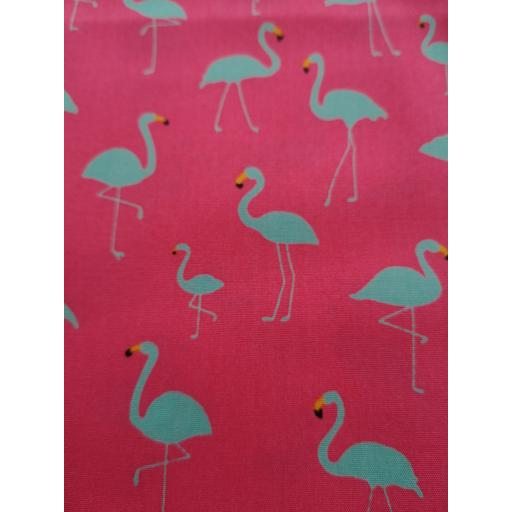 Funky fluorescent Flamingos cotton poplin