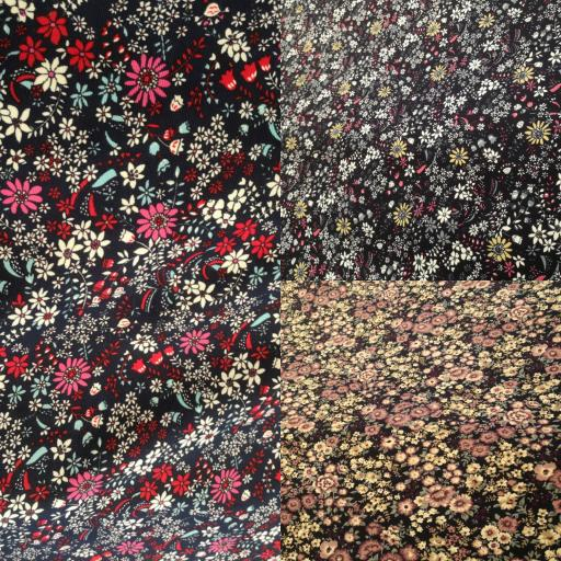 Floral Printed Needlecord 100% cotton lots of colours