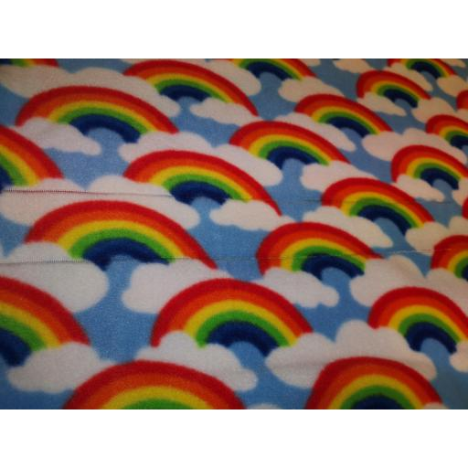 Rainbow clouds Polar fleece