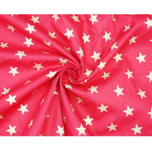 Gold large stars Christmas poplin