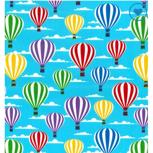 Hot air balloon cotton poplin