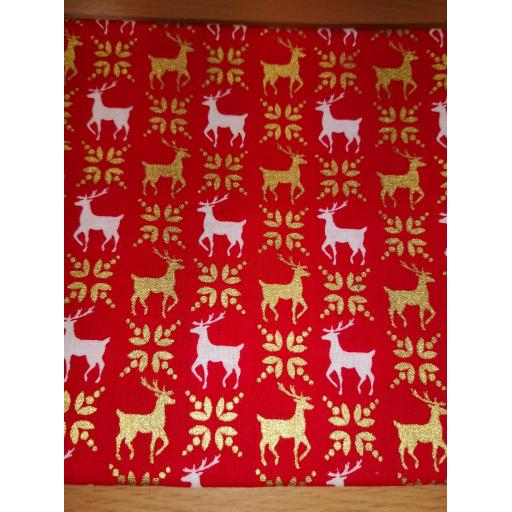 Christmas poplin fat quarters reindeer, fairisle