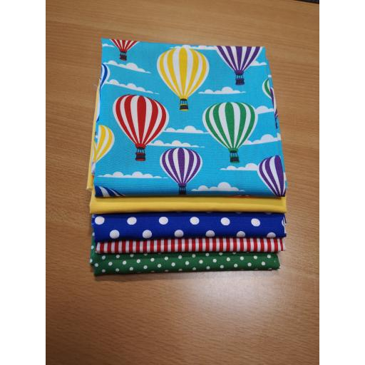 Hot air balloon cotton fat quarter set