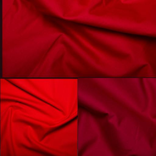 Red cotton poplin