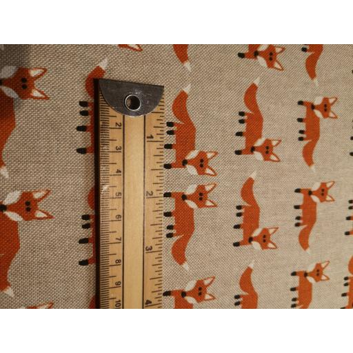 Foxes linen look canvas by Chatham Glyn
