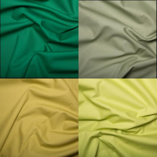 Green cotton poplin Rose and Hubble