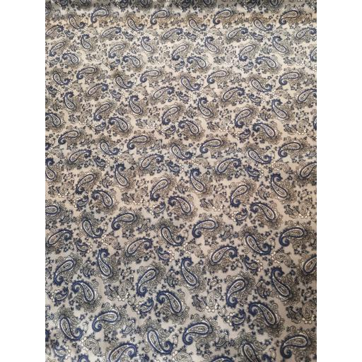 Polyester Paisley lining -silver