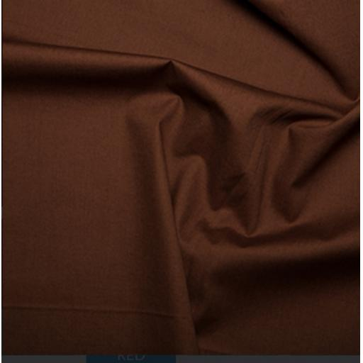 Brown cotton poplin