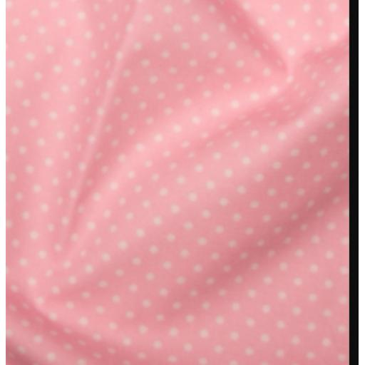 Pale pink spot cotton poplin