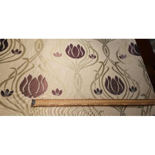 Purple tulip curtain fabric