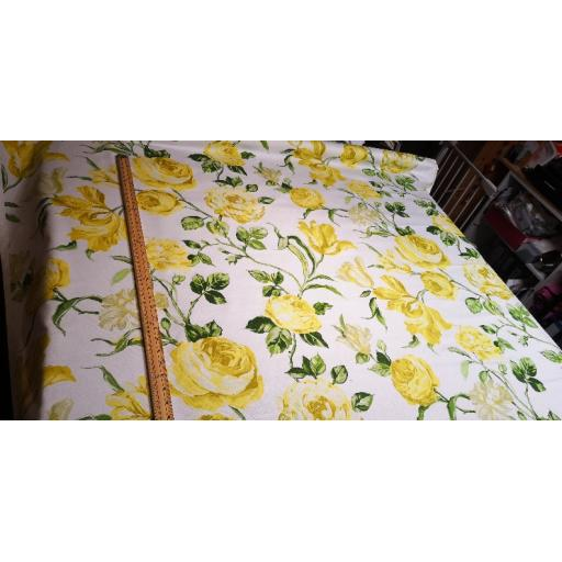 Lemon oriental floral canvas