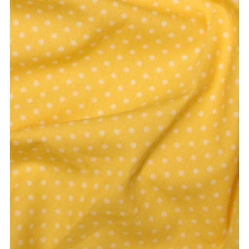Lemon Yellow Spot Cotton Poplin