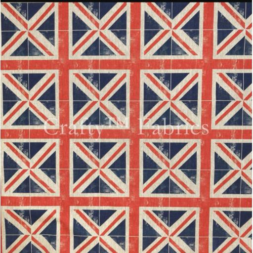Union flag linen look canvas by Chatham Glyn